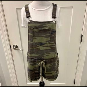 New Z Supply camo short overalls